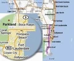 florida map parkland fl