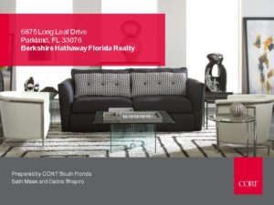 Cort Furniture Package for 6875 Long Leaf Drive Parkland Florida 33076