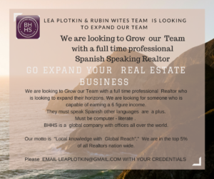 REALTORS NEEDED FOR OUR TEAM