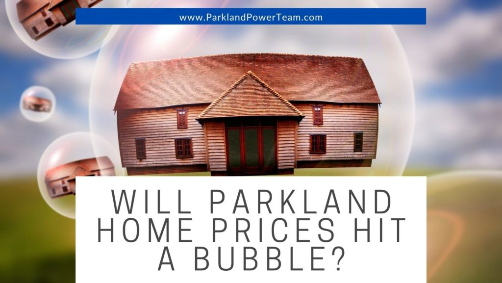 Will Parkland Home Prices Hit a Bubble?